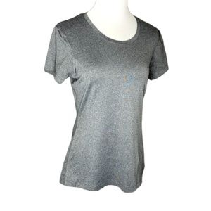 Under Armour Gray Fitted Heat Gear T-Shirt Large